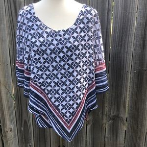 L One World 2Piece Tank Top w/Shawl